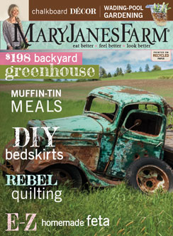 Current Cover of MaryJanesFarm magazine
