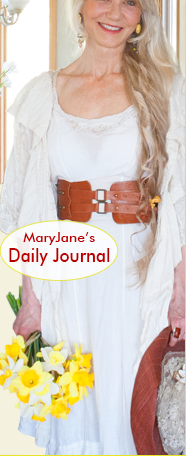 MaryJane Butters [image]; plus, 'Raising Jane Journal: MaryJane's Daily Journal'; follow MaryJanesFarm on Facebook, Twitter, and Pinterest; and 'Join our E-mail List'